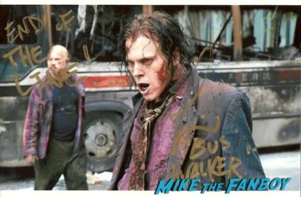 Joe Giles the walking dead signed autograph walker photo photograph signing autographs for fans rare promo
