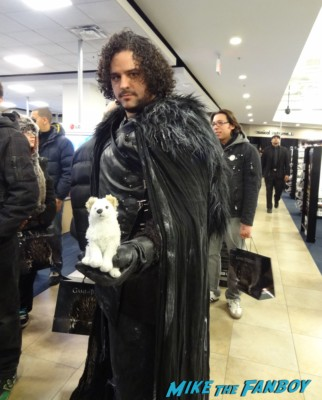 Jon and wolf jon snow game of thrones cosplay costumed characters rare