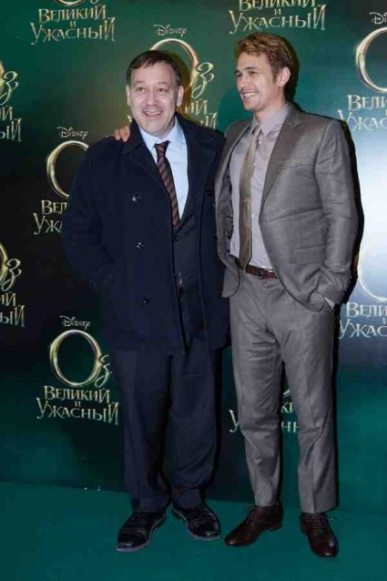 James Franco and Sam Raimi oz the great and powerful movie premiere red carpet moscow russia photo