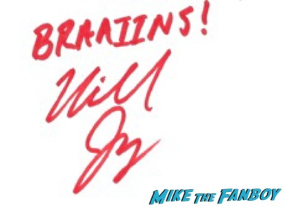 Michael Jaegers signed autograph the walking dead promo photo hot rare walking walking dead season 3 rare promo