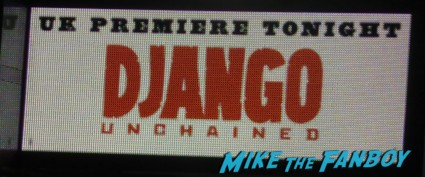 Django Unchained UK Movie Premiere Report! The Scarlet Starlet Meets Quentin Tarantino! Christoph Waltz! And Misses Jamie Foxx By This Much! Autographs! Photos! And More!