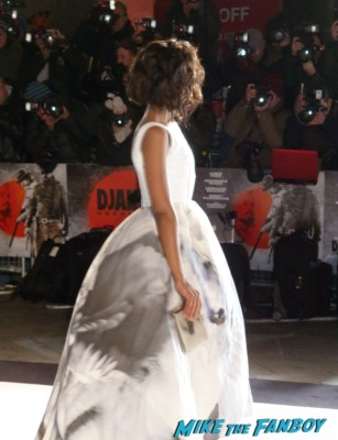 kerry washington on the red carpet at Django Unchained UK Movie Premiere Report! The Scarlet Starlet Meets Quentin Tarantino! Christoph Waltz! And Misses Jamie Foxx By This Much! Autographs! Photos! And More!