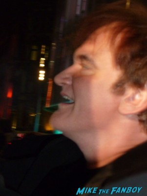 quentin tarantino signing autographs for fans django unchained movie premiere signed autograph on the red carpet at Django Unchained UK Movie Premiere Report! The Scarlet Starlet Meets Quentin Tarantino! Christoph Waltz! And Misses Jamie Foxx By This Much! Autographs! Photos! And More!