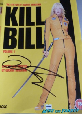 quentin tarantino signing autographs signed autograph kill bill dvd cover rare promo for fans django unchained movie premiere signed autograph on the red carpet at Django Unchained UK Movie Premiere Report! The Scarlet Starlet Meets Quentin Tarantino! Christoph Waltz! And Misses Jamie Foxx By This Much! Autographs! Photos! And More!