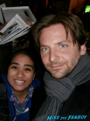 Bradley Cooper fan photo rare signing autographs for fans elisa in the big apple hot sexy rare promo hangover star