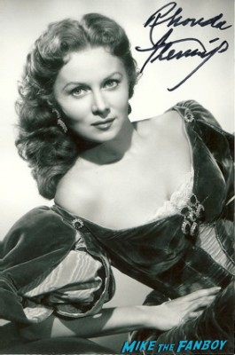 Rhonda Fleming signed autograph photo rare promo hot sexy american singer rare promo