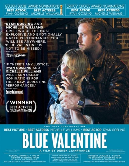 blue valentine rare promo movie poster promo hot sexy michelle williams ryan gosling one sheet sex