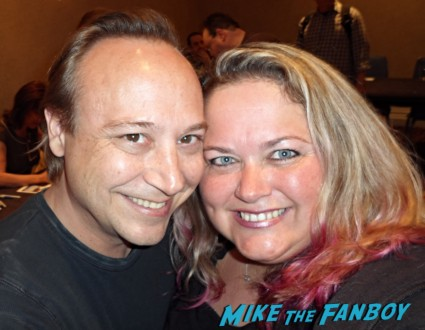 Keith coogan fan photo pinky from mike the fanboy signing autographs for fans rare promo