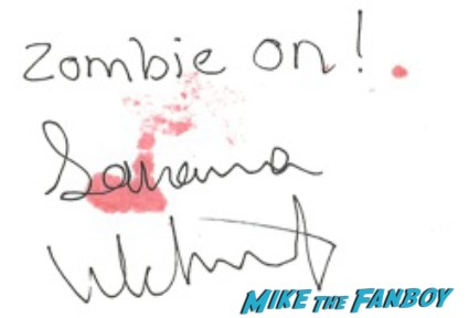 Savanna Wehunt signed autograph the walking dead promo photo hot rare walking walking dead season 3 rare promo