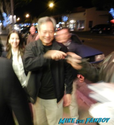 ang lee signing autographs for fans life of pi director rare promo sense and sensibility aero theater life of pi q and a