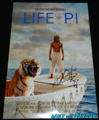 ang lee signed autograph life of pi movie poster one sheet rare dvd cover rare promo movie poster one sheet hot rare autograph signing autographs for fans aero theater life of pi q an 010