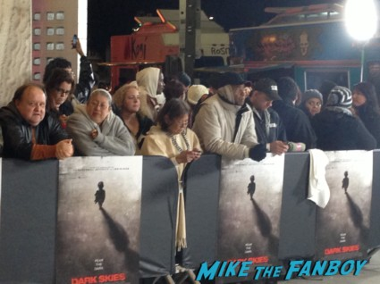 the dark skies movie premiere at the arclight cinerama dome signing autographs