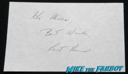 kurt russell signed autograph index card photo big trouble in little china the thing hot sexy overboard star