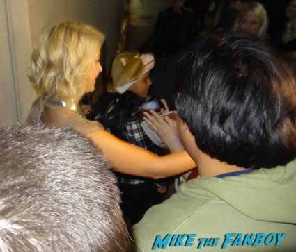 Julianne Hough signing autographs for fans at a talk show taping rock of ages star rare promo safe haven