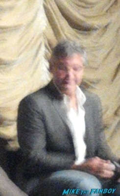 george clooney at a q and a for the descendants at lacma signing autographs for fans rare promo