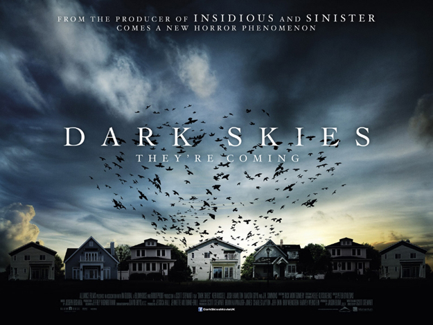 Dark Skies uk quad movie poster promo one sheet hot sexy keri russell rare promo horror thriller poster promo rare