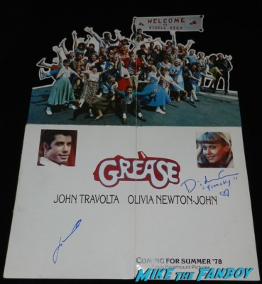 john travolta didi conn signed autograph grease original screening program signing autographs for fans grease frenchy now 2013 005