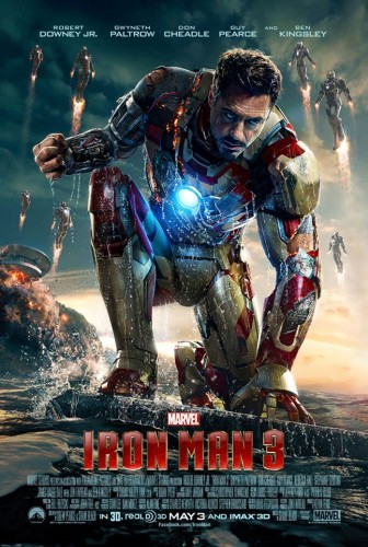 iron man 3 promo movie poster final robert downey jr. avengers rare promo poster one sheet hot