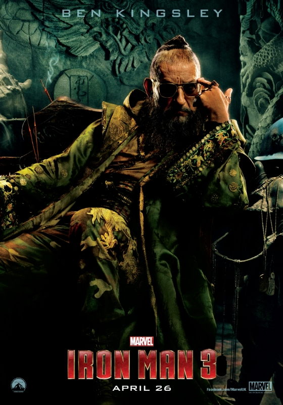 iron man 3 ben kingsley the mandarin promo individual movie poster