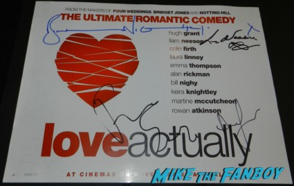 bill nighy  signed autograph love actually mini poster uk quad signing autographs for fans rare promo hot sexy rare jack the giant slayer movie premiere nicholas holt hot ewan brem 013