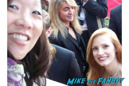 Jessica Chastain hot sexy fan photo signing autographs for fans rare promo zero dark thirty promo poster