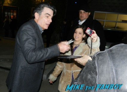 While You Were Sleeping star Peter Gallagher signing autographs for fans rare promo