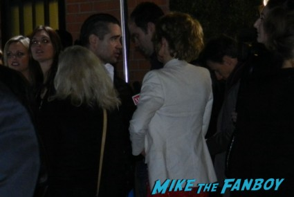 colin farrell signing autographs for fans irish awards promo hot green carpet rare promo fright night
