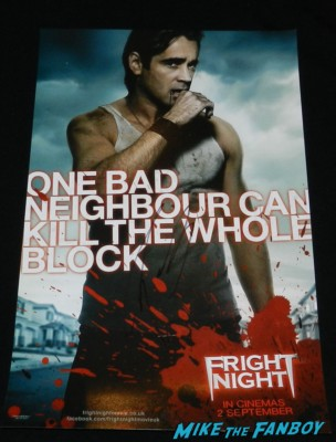 colin farrell signed autograph fright night promo mini movie poster promo hot sexy shirtless vampire muscle rare