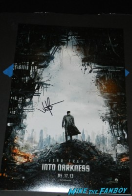 jj abrams signed autograph star trek into darkness rare promo movie poster autographed