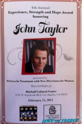 john taylor sign rare promo skirball event