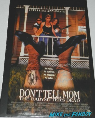 keith coogan christina applegate signed autograph don't tell mom the babysitters dead mini poster adventures in babysitting mobile poster rare promo one sheet rare keith coogan signed keith coogan signing autographs for fans adventures in babysitti 008