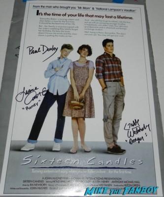 Liane Curtis signed autograph 16 candles mini promo movie poster one sheet hot rare signature