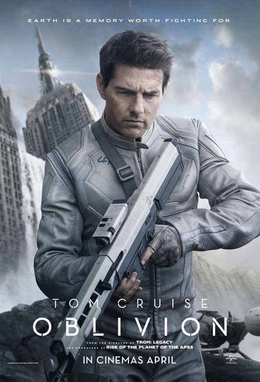 tom cruise oblivion uk movie poster promo tron legacy director one sheet movie poster rare