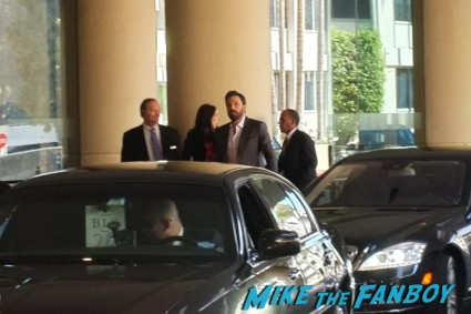 ben affleck signing autographs for fans at the oscar luncheon at the beverly hilton in los angeles