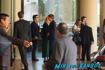 tom holland signing autographs for fans at the oscar luncheon at the beverly hilton in los angeles