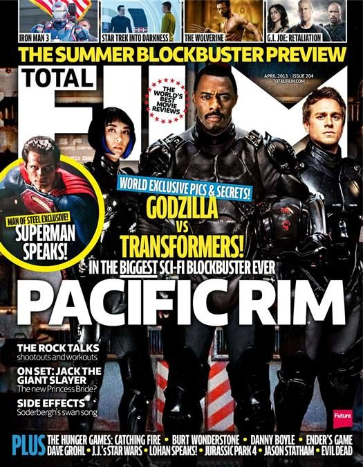 total film magazine Pacific Rim rare promo concept art total film magazine rare Guillermo del Toro charlie hunnam
