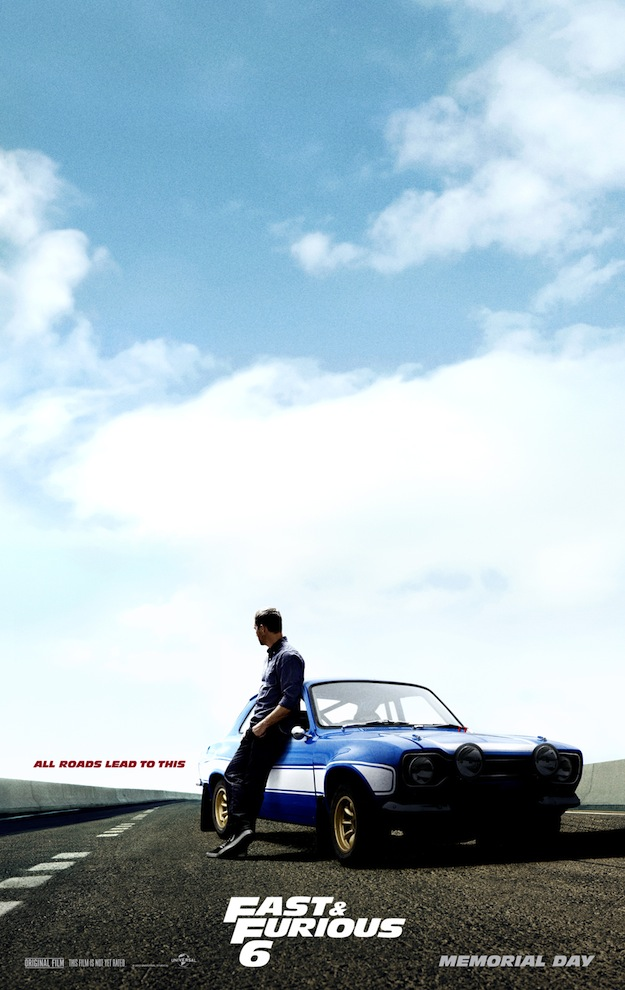 Paul Walker Fast 6 rare promo movie poster one sheet hot sexy rare fast six promo movie poster teaser