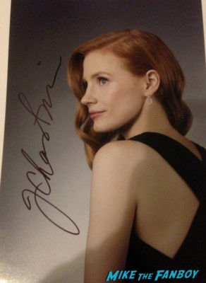 Jessica chastain signed autograph photo rare promo zero dark thirty sexy jessica chastain signing autographs for fans at the National Board of Review Awards in new york city celebrities signing autographs for fans rare promo photo rare