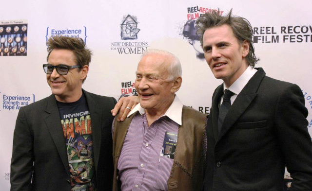 robert downey jr and john taylor on the red carpet honoring the duran duran star rare promo signed autographs