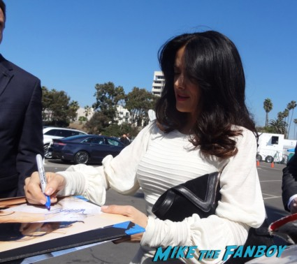 salma hayek signing autographs at the The Independent Spirit Awards 2013! Drama! Insanity! With Jennifer Lawrence! Daniel Radcliffe! Matthew McConaughey! Ellen Page! Jason Bateman! Salma Hayek! Kerry Washington! Bradley Cooper! Chris Tucker! Sam Rockwell! Zoe Saldana! Paul Rudd! And So Much More! Autographs! Photos! And More!
