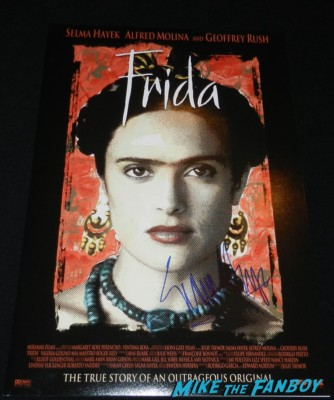 salma hayek signed Frida mini movie poster rare signing autographs at the The Independent Spirit Awards 2013! Drama! Insanity! With Jennifer Lawrence! Daniel Radcliffe! Matthew McConaughey! Ellen Page! Jason Bateman! Salma Hayek! Kerry Washington! Bradley Cooper! Chris Tucker! Sam Rockwell! Zoe Saldana! Paul Rudd! And So Much More! Autographs! Photos! And More!