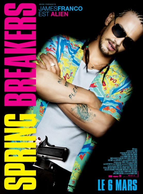 James Franco spring breakers individual promo movie poster one sheet hot sexy teaser movie poster rare