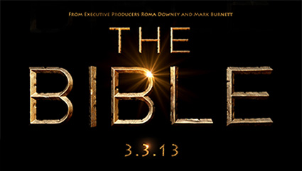 The bible logo history channel rare promo 3.3.13 mark burnett roma downey