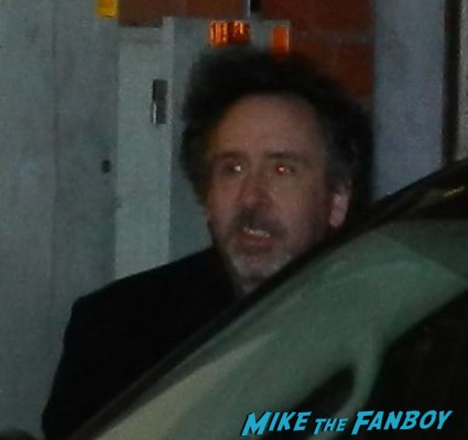 tim burton signing autographs for fans at a q and a for frankenweenie rare promo signed autograph sleepy hollow director rare