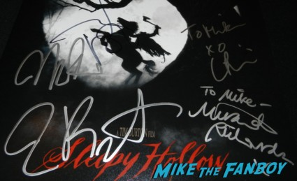 tim burton signed autograph sleepy hollow movie poster johnny depp christina ricci miranda richardson tim burton signing autographs for fans at frankenweenie 014