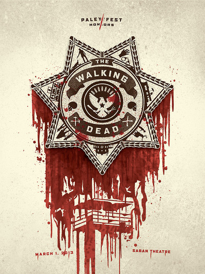 the walking dead paleyfest 2013 promo poster gallery 1988 bleeding shield rare promo hot poster promo