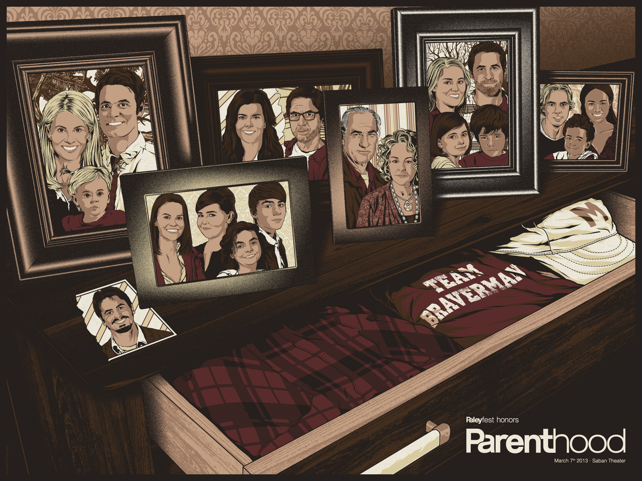 parenthood paleyfest 2013 promo poster gallery 1988 bleeding shield rare promo hot poster promo