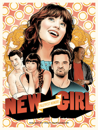 new girl paleyfest 2013 promo poster gallery 1988 bleeding shield rare promo hot poster promo