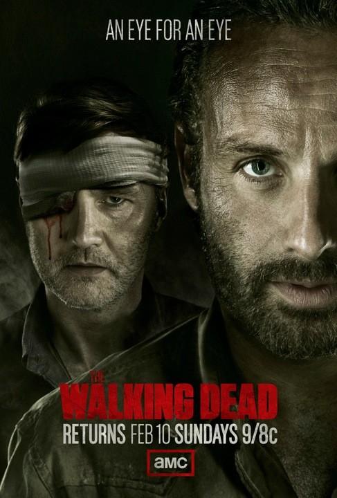 The Walking Dead season 3 promo poster rare andrew lincoln the governor amc press poster hot rare movie poster promo