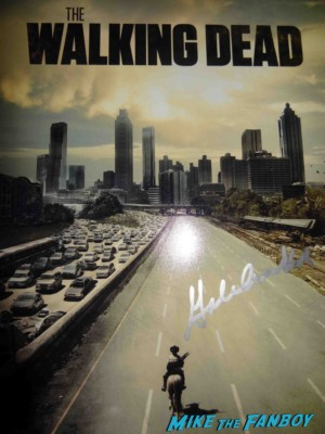 gale ann hurd signed autograph walking dead promo photo Gale Anne Hurd signing autographs for fans rare promo an evening with the walking dead television academy rare
